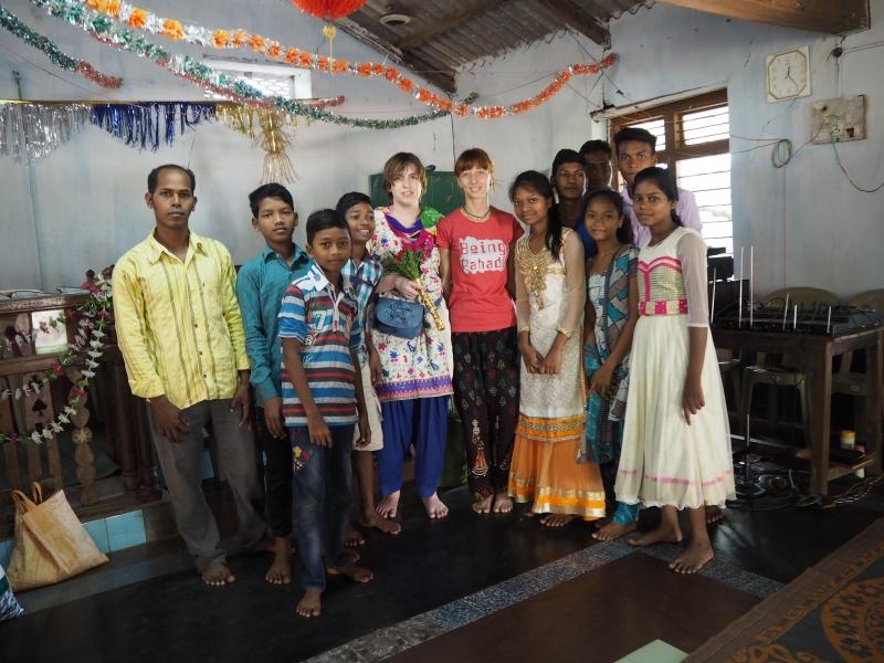 В баптистской церкви д. Самагайта