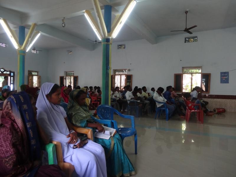 Служба в баптистской церкви, д. Барангсинг