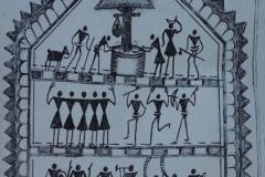 Бабу сым, божество дорожного движения. Его святилища можно увидеть на перепутьях дорог вблизи Гунупура.